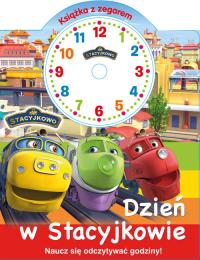 Stacyjkowo Książka z zegarem Dzień w Stacyjkowie -    mała okładka