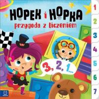 Hopek i Hopka przygoda z liczeniem.  Interaktywna książeczka dla dzieci - Joanna Olejarczyk | mała okładka