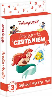 Disney Uczy Księżniczka Przygoda z czytaniem Sylaby i wyrazy PCK-3 -  | mała okładka