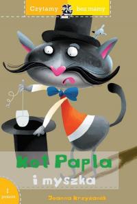 Czytamy bez mamy Kot Papla i myszka - Joanna Krzyżanek | mała okładka