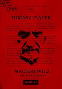 Macierewicz Jak to się stało - Tomasz Piątek | mała okładka