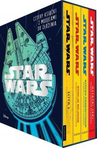 Star Wars Cztery książki z modelami do złożenia -  | mała okładka