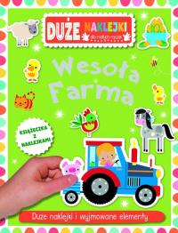 Wesoła farma Książeczka z dużymi naklejkami dla małych rączek -    mała okładka