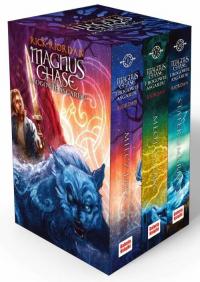 Magnus Chase /  Bogowie Asgardu Pakiet - Rick Riordan | mała okładka