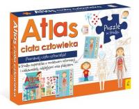 Atlas ciała człowieka: Atlas w zestawie z mapą i puzzlami Pakiet -    mała okładka