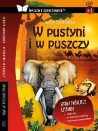 W pustyni i w puszczy Lektura z opracowaniem - Henryk Sienkiewicz   mała okładka