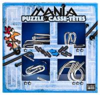 Łamigłowki metalowe 4 sztuki Puzzle-mania zestaw niebieski -  | mała okładka