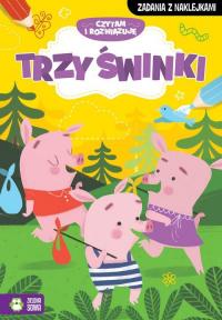 Czytam i rozwiązuję Trzy małe świnki - zbiorowa praca   mała okładka