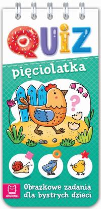 Quiz pięciolatka Obrazkowe zadania dla bystrych dzieci -  | mała okładka
