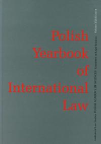 Polish Yearbook of International Law Tom XXXIII -  | mała okładka