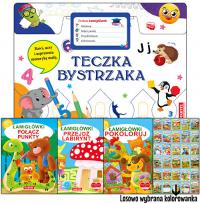 Teczka bystrzaka Zestaw Łamigłówek - zbiorowa praca   mała okładka