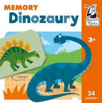 Dinozaury Memory Kapitan Nauka - zbiorowa praca   mała okładka