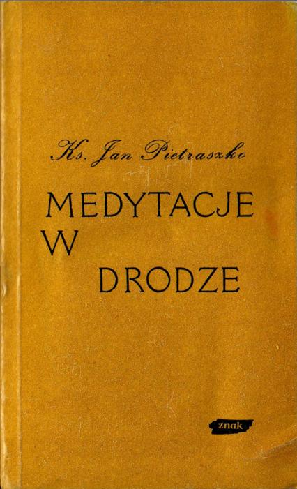 Medytacje w drodze - ks. Jan Pietraszko  | okładka