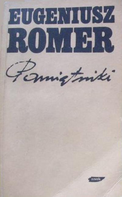 Pamiętniki: problemy sumienia i wiary - Eugeniusz Romer  | okładka