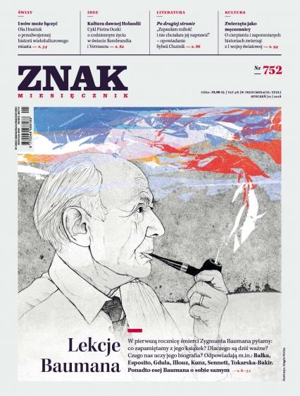 ZNAK 752 1/2018: Lekcje Baumana -  | okładka