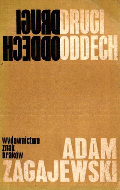 Drugi oddech - Adam Zagajewski  | okładka