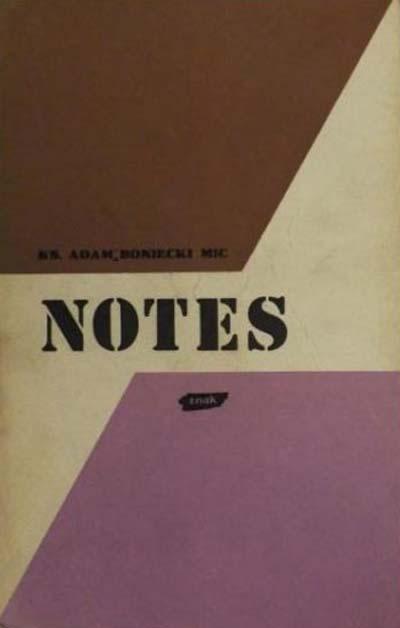 Notes  - ks. Adam Boniecki  | okładka