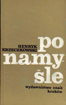 Po namyśle  - Henryk Krzeczkowski    okładka