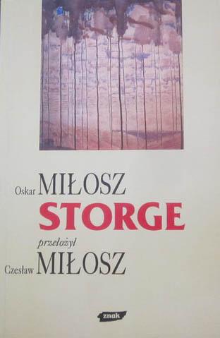 Storge - Oskar Miłosz  | okładka