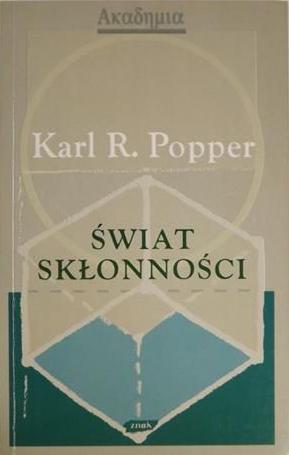 Świat skłonności - Karl Popper  | okładka