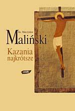 Kazania najkrótsze - ks. Mieczysław Maliński  | okładka