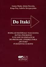 Rozkład materiału nauczania języka polskiego w klasie III gimnazjum - Joanna Madej, Joletta Osewska, ... | mała okładka