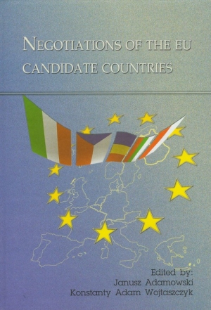 Negotiations of the EU candidate countries - okładka