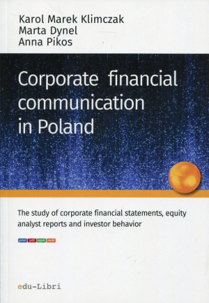 Corporate financial communication in Poland - okładka